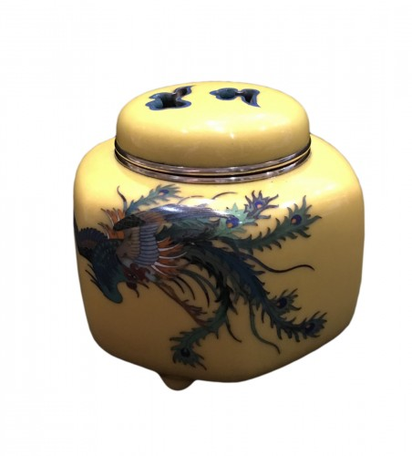Cloisonne Incense Burner Phenix Design