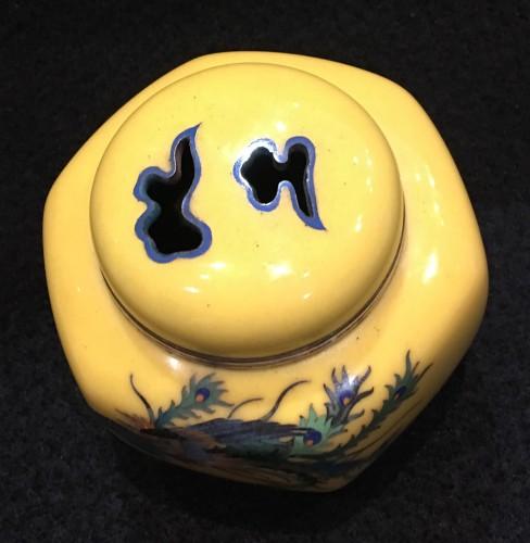 Cloisonne Incense Burner Phenix Design - Asian Art & Antiques Style