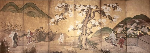 "6-Panel Screen ""the Cherry Blossom"""