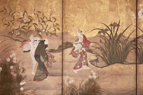 "6-Panel Screen ""the Cherry Blossom"" - Asian Art & Antiques Style"