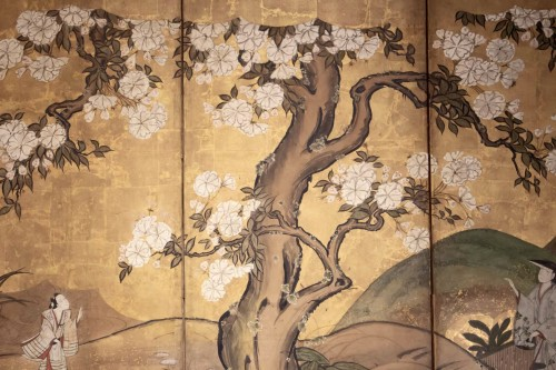 "Asian Art & Antiques  - 6-Panel Screen ""the Cherry Blossom"""