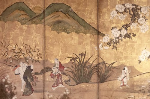 "19th century - 6-Panel Screen ""the Cherry Blossom"""