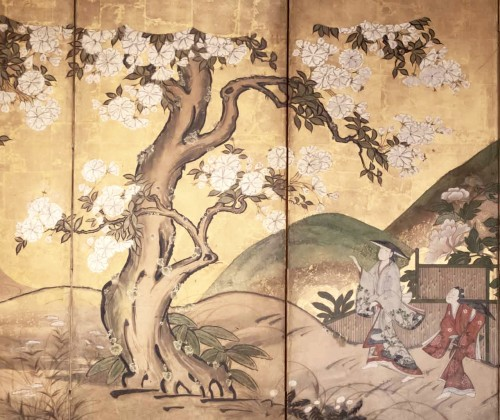 "6-Panel Screen ""the Cherry Blossom"" -"