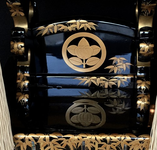 20th century - Japanese Lectern in Black and Gold Lacquer