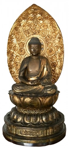 Amida Nyorai on a Lotus-Shaped Pedestal