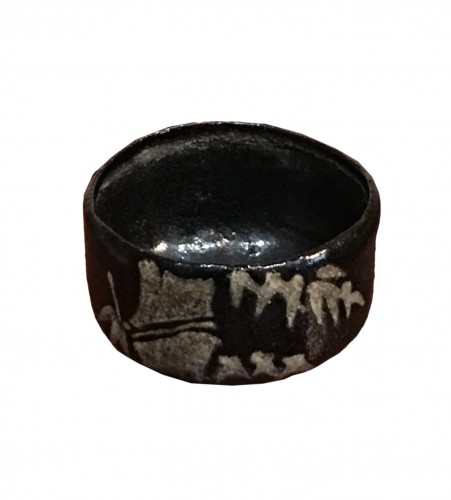Black enamelled Chawan