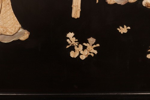 Large panel of 7 Chinese literates - Shishifukujins - Asian Art & Antiques Style