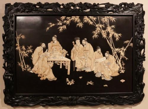 - Large panel of 7 Chinese literates - Shishifukujins