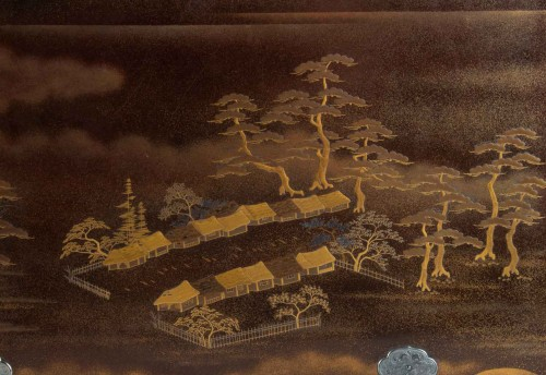 Japanes gold Lacquer Cabinet - Kodansu -