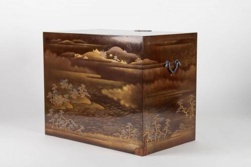19th century - Japanes gold Lacquer Cabinet - Kodansu