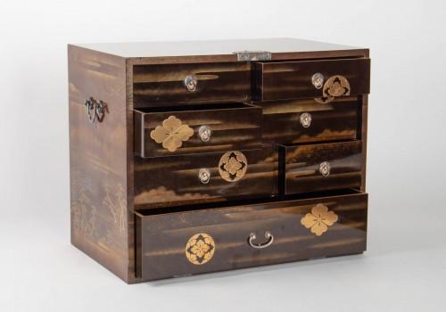 Antiquités - Japanes gold Lacquer Cabinet - Kodansu