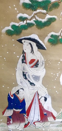 Asian Art & Antiques  - Painting by Morizumi Tsurana