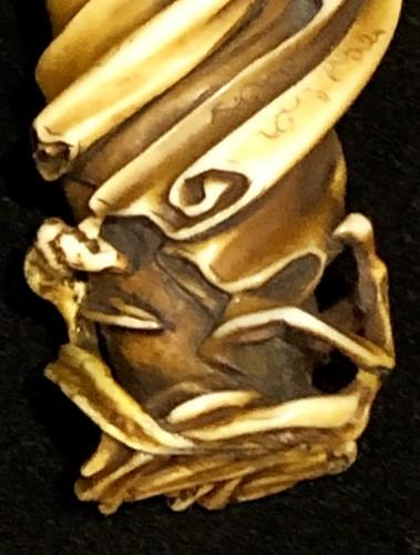 Asian Art & Antiques  - Ivory Netsuke of Daruma