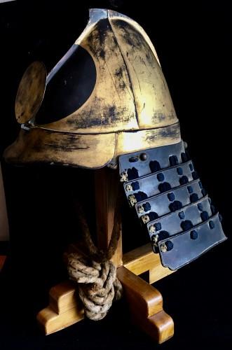 Lacquered Iron Kabuto Momonari Shape - Asian Art & Antiques Style