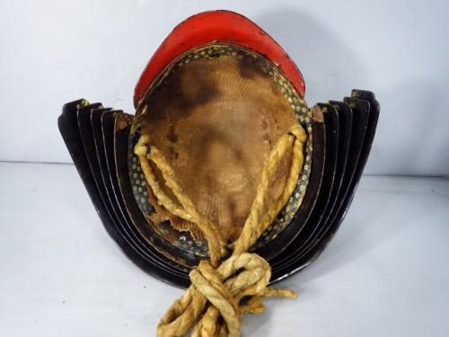 Lacquered Iron Kabuto Momonari Shape -