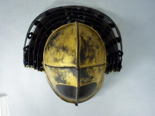 - Lacquered Iron Kabuto Momonari Shape