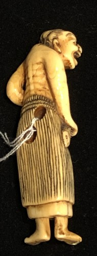 "Ivory Netsuke of o Fisherwoman ""Ama"" - Asian Art & Antiques Style"