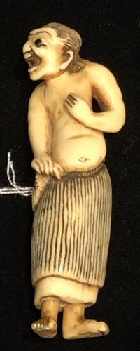 """Ivory Netsuke of o Fisherwoman """"Ama"""" -"""
