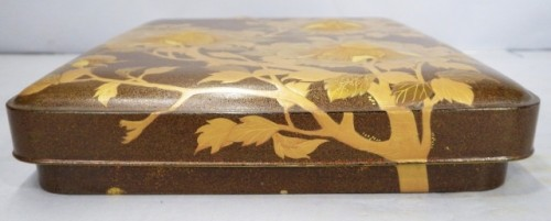 Lacquered Writing Box (Suzuri Bako) with Peonies Design -