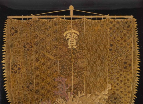 Antiquités - Rare Japanese set of a writing box and its document box (suzuri + bunko)