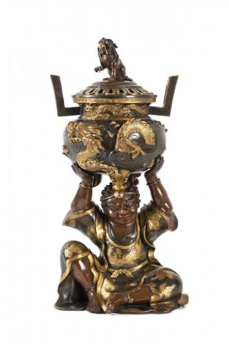 Important Japanese Bronze Incense Burner