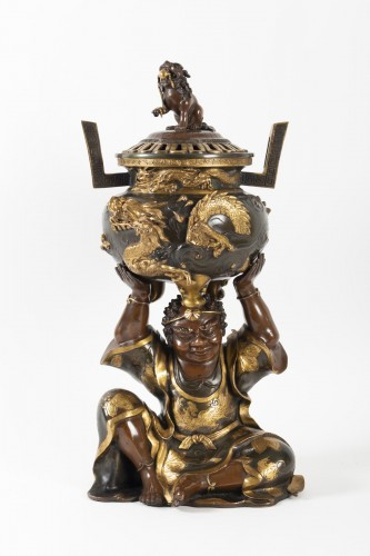 Important Japanese Bronze Incense Burner - Asian Art & Antiques Style