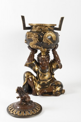 Antiquités - Important Japanese Bronze Incense Burner