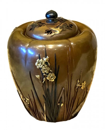 A Japanese Bronze Koro (Incense Burner)
