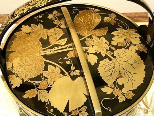 Asian Art & Antiques  - Rare Pair of Lacquered Iron Matching Sake Ewers, japan cirac 1920