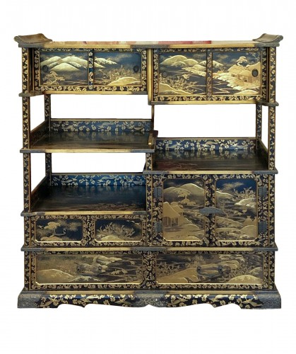 Lacquered Shodana (Display Shelf) - Edo Period