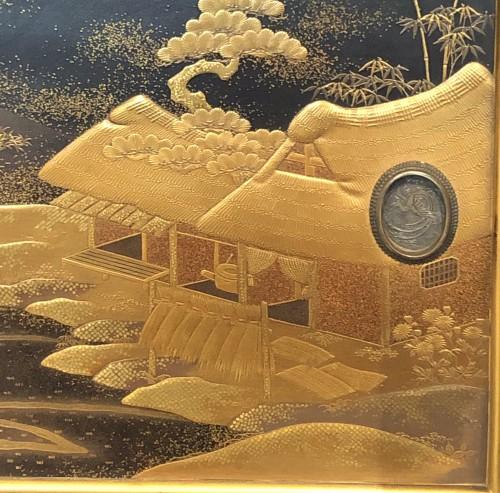 Lacquered Shodana (Display Shelf) - Edo Period - Asian Art & Antiques Style