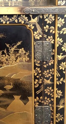 Asian Art & Antiques  - Lacquered Shodana (Display Shelf) - Edo Period