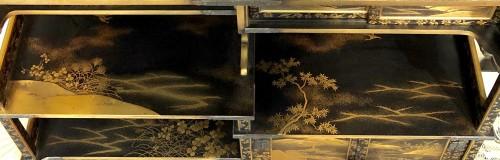 Lacquered Shodana (Display Shelf) - Edo Period -