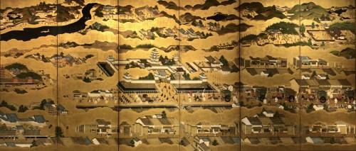 Scenes in and out of the Capital Kyoto - Rakuchu Rakugaï Zu