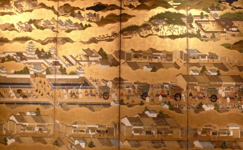Scenes in and out of the Capital Kyoto - Rakuchu Rakugaï Zu - Asian Art & Antiques Style