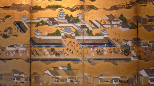 17th century - Scenes in and out of the Capital Kyoto - Rakuchu Rakugaï Zu