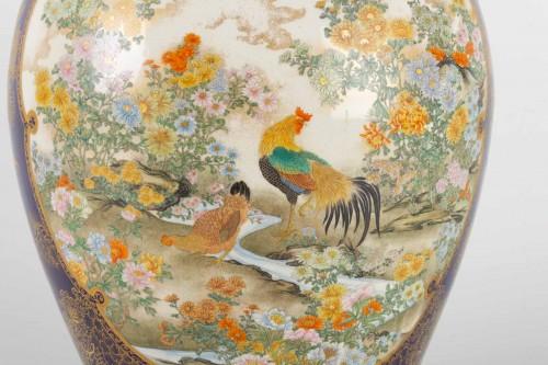 19th century - A Large and rare Satsuma Vase - Kinkozan