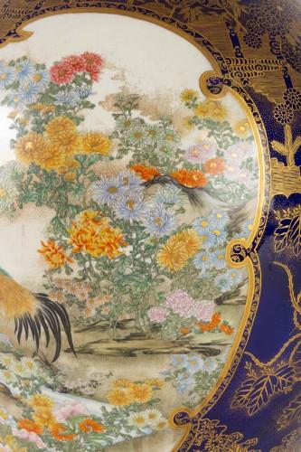 A Large and rare Satsuma Vase - Kinkozan -