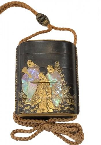 4 Cases Inro. Period Edo 18th century