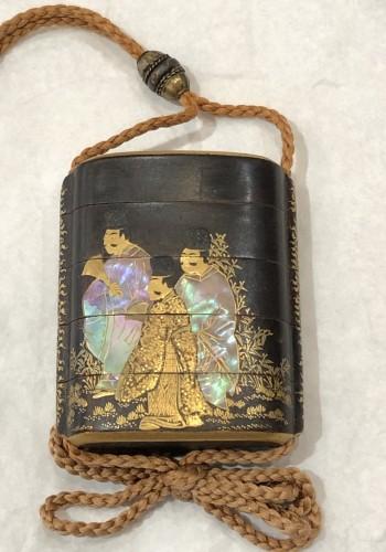 Asian Art & Antiques  - 4 Cases Inro. Period Edo 18th century