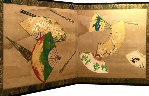 2-Panel Japanese Screen, Meiji period