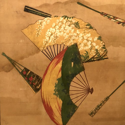 2-Panel Japanese Screen, Meiji period - Asian Art & Antiques Style