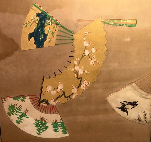 Asian Art & Antiques  - 2-Panel Japanese Screen, Meiji period