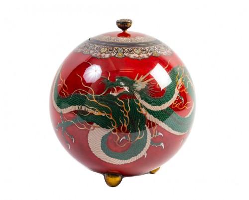 Important Ball Shape Dragons Vase