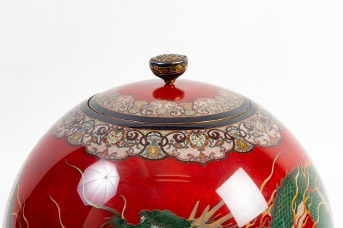 Asian Art & Antiques  - Important Ball Shape Dragons Vase