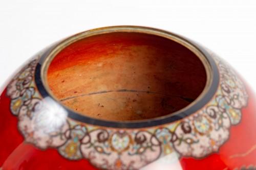 Antiquités - Important Ball Shape Dragons Vase
