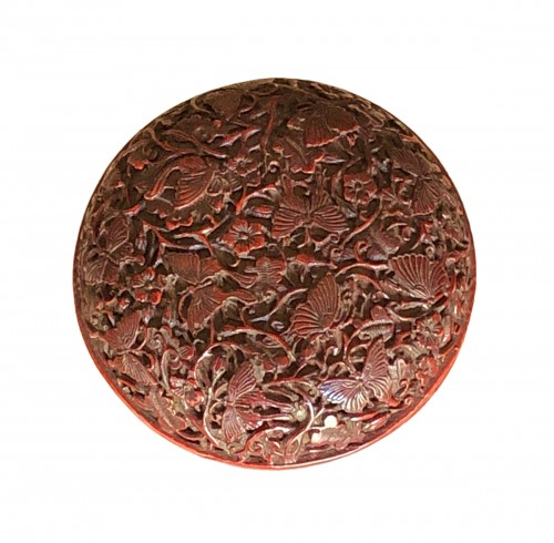 Incense Box (Kogo) in Red Lacquer