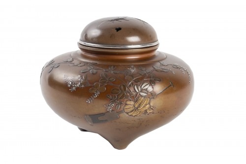 Japanese Tripod Bronze Incense Burner