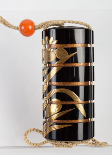 Black-Lacquer Five-Case Inro by Yoyusai (1772-1845) -