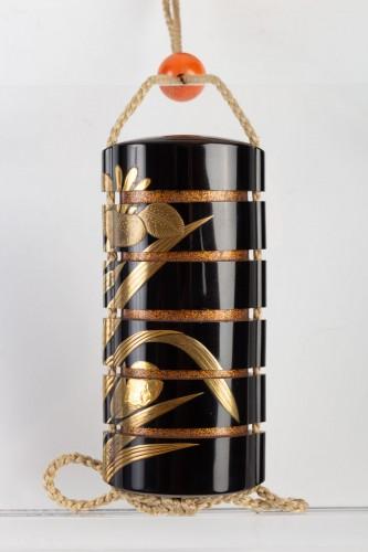 - Black-Lacquer Five-Case Inro by Yoyusai (1772-1845)